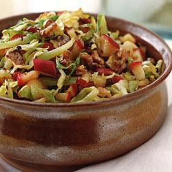 Braised cabbage with apple & caraway - delicious dish for autumn and winter time