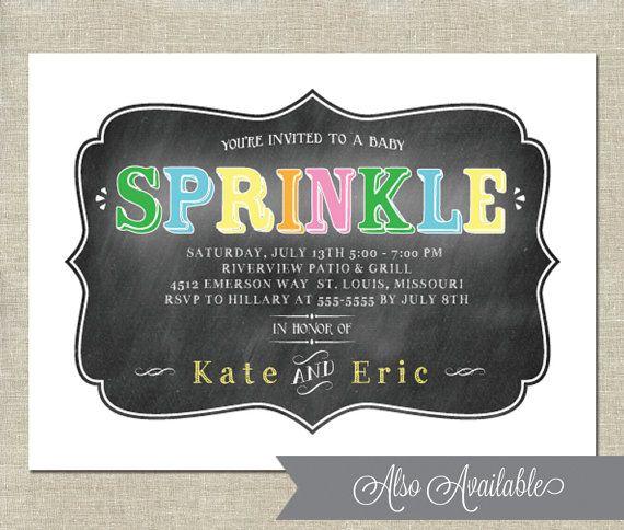 Baby Sprinkle Invitation  PRINTABLE  Couples by InvitationCeleb, $15.00
