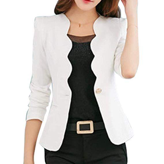 1df4b6392190 Blazer Mujer Primavera Otoño Moda Casual Negocios Oficina Chaqueta ...