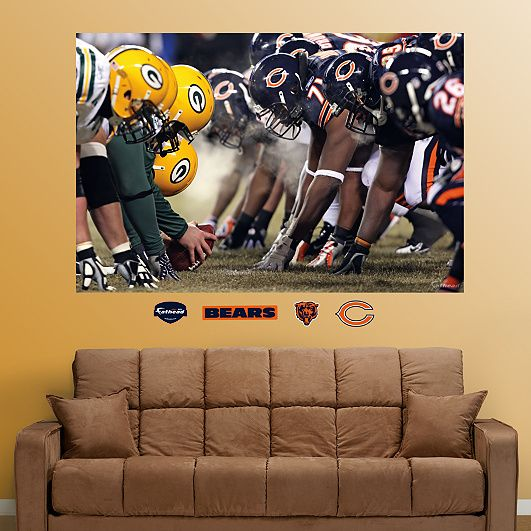 Good for the basement or a man cave. However, it may have to be the Packers vs the Lions.... Line of Scrimmage Mural