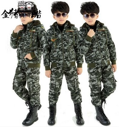 69.86$  Watch now - http://alilin.worldwells.pw/go.php?t=32585381215 - 2015 Spring Autumn Long Sleeve Camouflage Set Small Big Children'S Clothing Boy Sportswear Military Jacket 2 Pieces Set H6137 69.86$