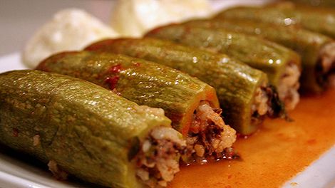 Photo: Stuffed zucchini (kousa mahshi) recipe    The Arabic Food Recipes  kitchen (The Home of Delicious Arabic Food                Recipe...