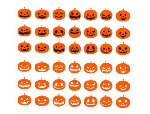 Halloween Pumpkins Expressions