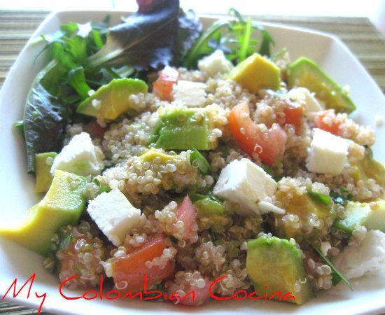 Ensalada de Quinua con Vinagreta or Quinoa Salad with Vinaigrette