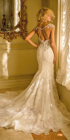 Jeweled Wedding Dresses - Trend For 2016 ❤ See more: http://www.weddingforward.com/jeweled-wedding-dresses/ #weddings #dresses  For More  rings vintage   Click Here http://moneybuds.com/Ring/