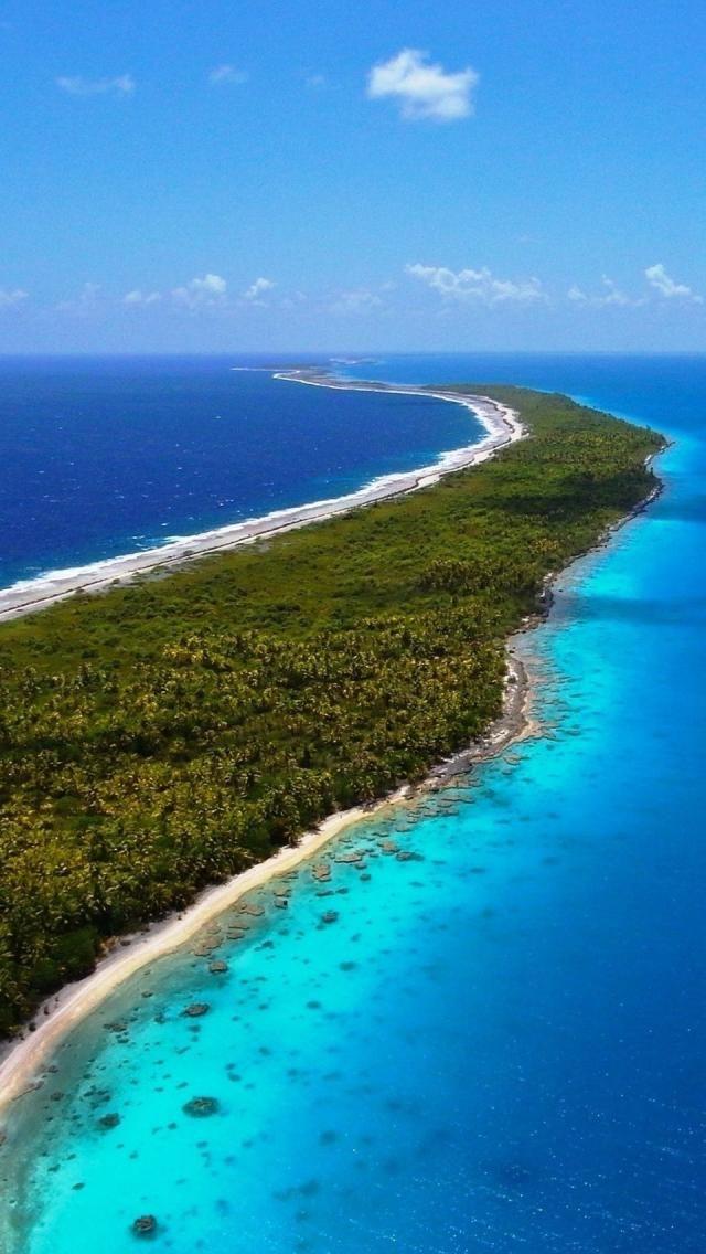 Ocean island, Kiribati