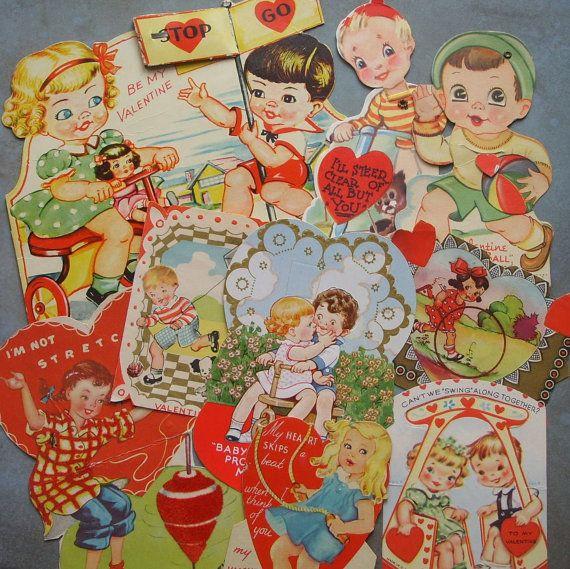 2229 best images about Vintage Valentine Images – Childrens Valentine Cards