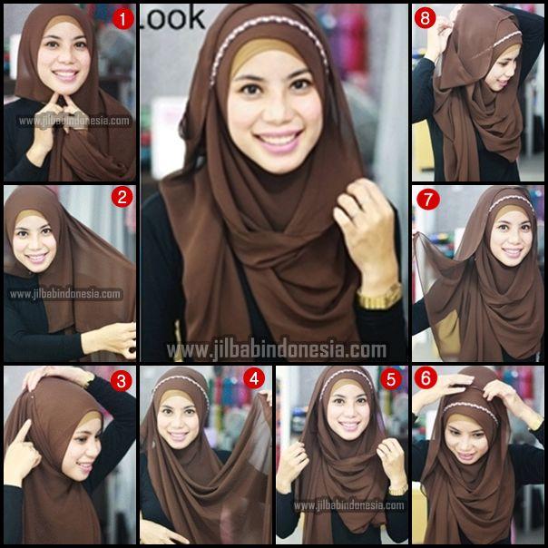 Tutorial Sifon shawl polos | 1001 Tutorial Hijab... Simple tp agak membingungkan :D
