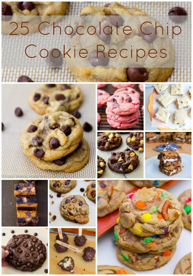 25 Easy Chocolate Chip Cookie Recipes by sallysbakingaddiction.com  http://sallybakingaddiction.com/2013/03/07/25-chocolate-chip-cookie-recipes/