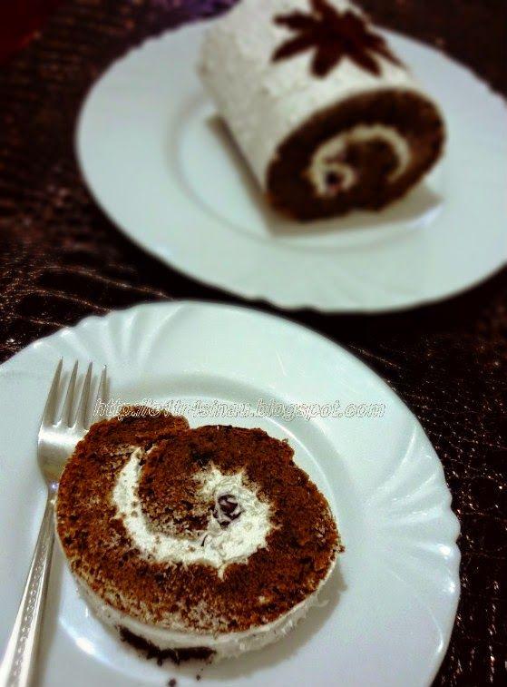 Citra's Home Diary: Almond Swiss Roll Cake / Bolu gulung almond