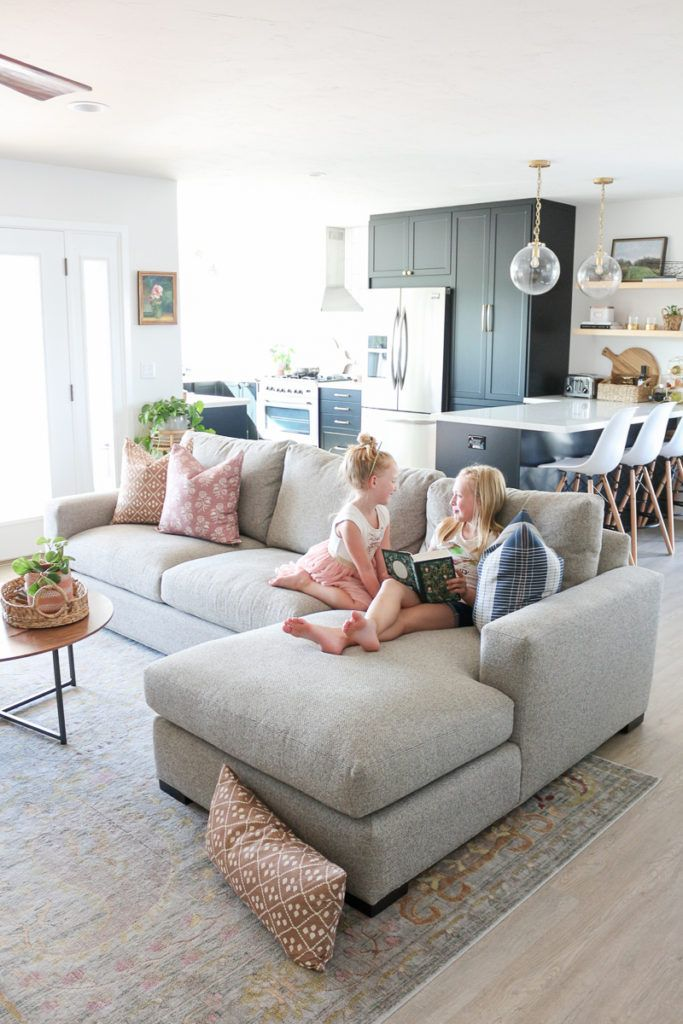 Family Room Refresh With Room Board Metro Sofa Review Living