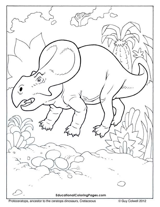 protoceratops coloring dinosaur coloring pages