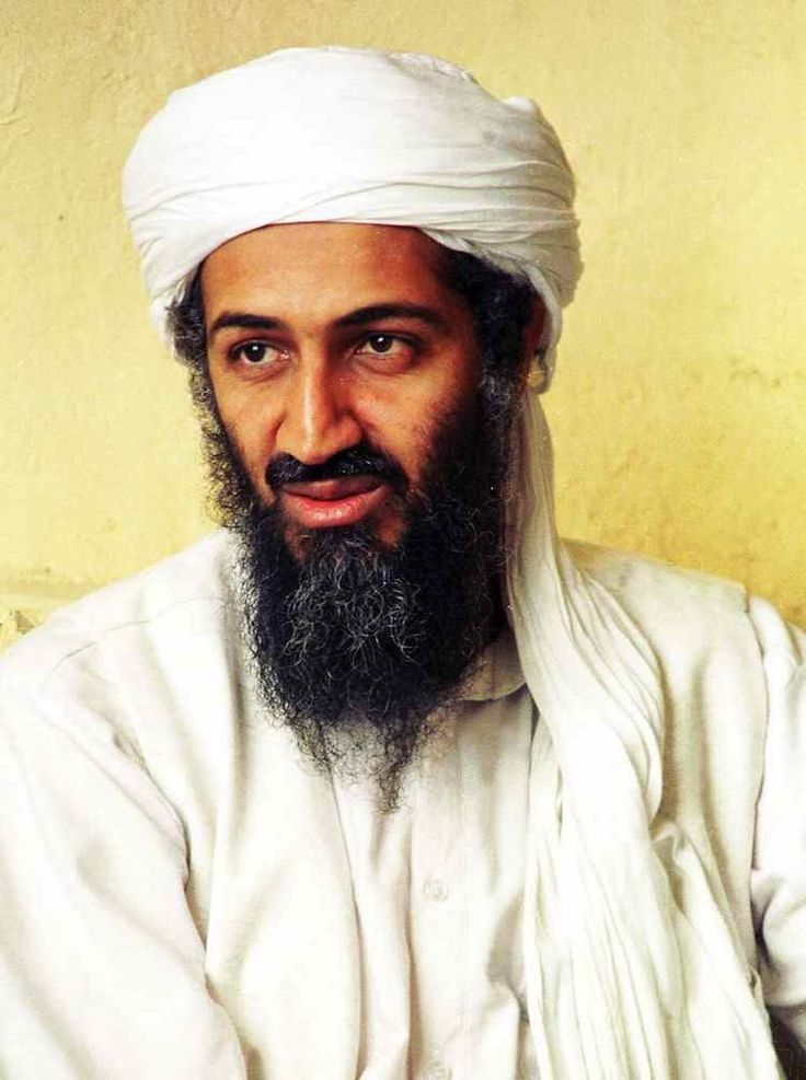 This is a picture of Osama bin Laden. Bin Laden believed that the Judeo-Christians and Judeo-American Alliance should be killed due to their hostility and injustice massacres against the Muslims in Qana in Lebanon.