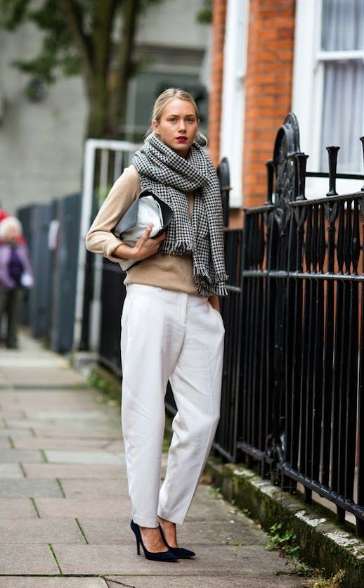 66 best images about White Pants Winter on Pinterest