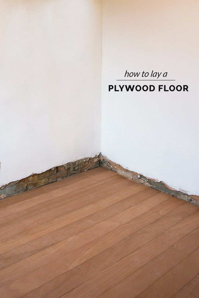 How To Lay A Plywood Floor The O Jays Plywood And On