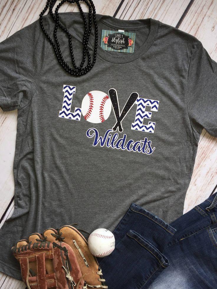 Baseball Love Shirt Custom Baseball Tee Baseball Team Shirt Glitter Baseball Baseball Mom Shirt Love Baseball It's Baseball Yall by SimplyStylishCo on Etsy