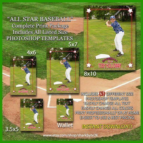 2020 Baseball Photoshop Template Overlay 5 Different Sizes Etsy Baseball Card Template Photoshop Template Photoshop