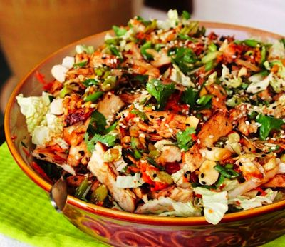 Ginger Sesame Grilled Chicken Salad: Fresh and delicious!