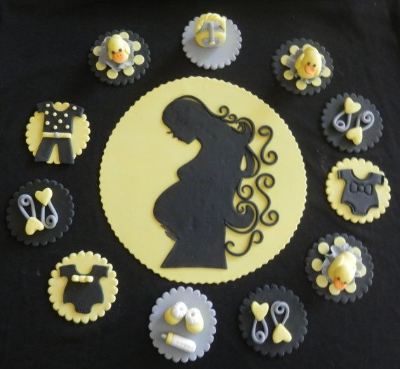 Baby Shower Cupcake Toppers  Item 464 by arleenstoppers on Etsy, $32.00