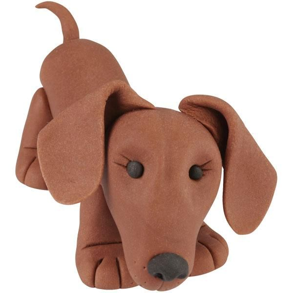 Dachshund Step-by-Step Tutorial for Fondant, Sugarpaste or Polymer Clay