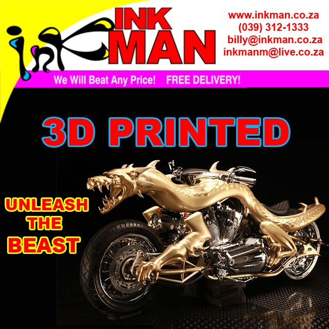 #3D #printed #Dragon #MotorBike CLICK TO READ MORE #INKman #Margate #SouthAfrica http://bit.ly/1P54IrR