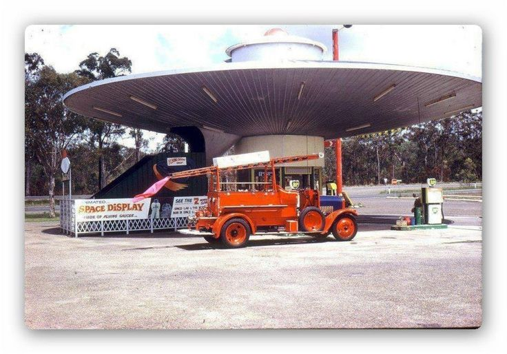 UFO SERVO - remember this UFO service station on the way to the Gold Coast?