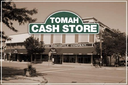 One of Tomah's oldest businesses.  Tomah Cash Store is located downtown and is full of anything and everything you could ever want!