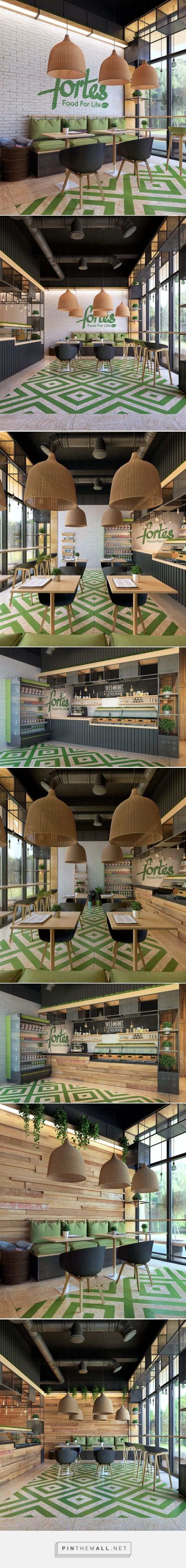 Clean food cafe Fortes on Behance - created via https://pinthemall.net