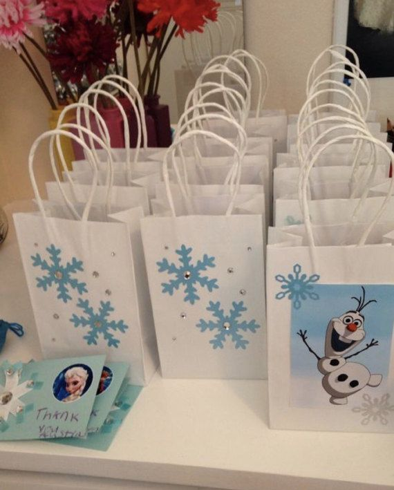 10 treatbags Frozen olaf por Shellyscraftrooom en Etsy