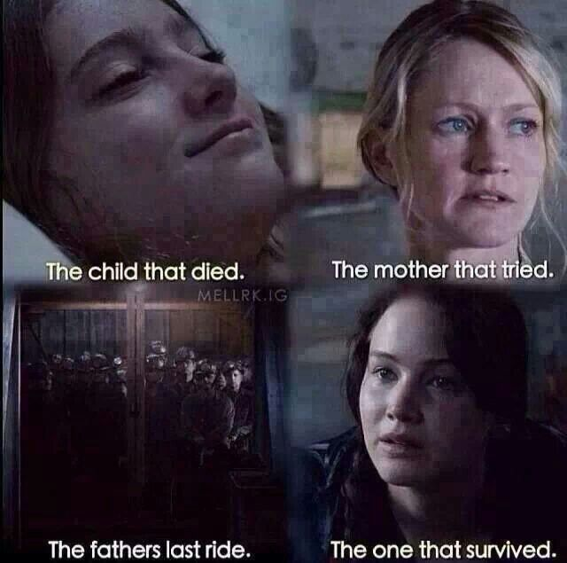 The child that died. The mother that tried. The father's last ride. The one that survived...But, no one survives the games.