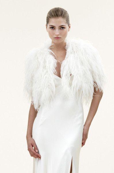 Jenny Packham - Santorini Feather Bridal Wrap