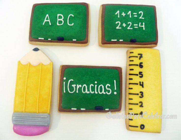 Galletas de reconocimiento a la gran labor que realizan los profesores y profesoras con nuestros hijos