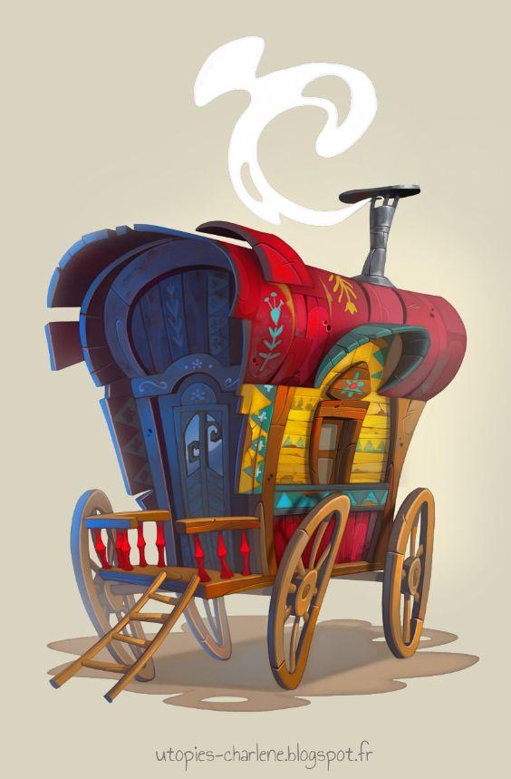 Gypsy caravan by Catell-Ruz