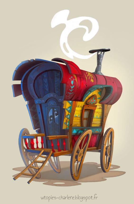 Gypsy caravan by Catell-Ruz