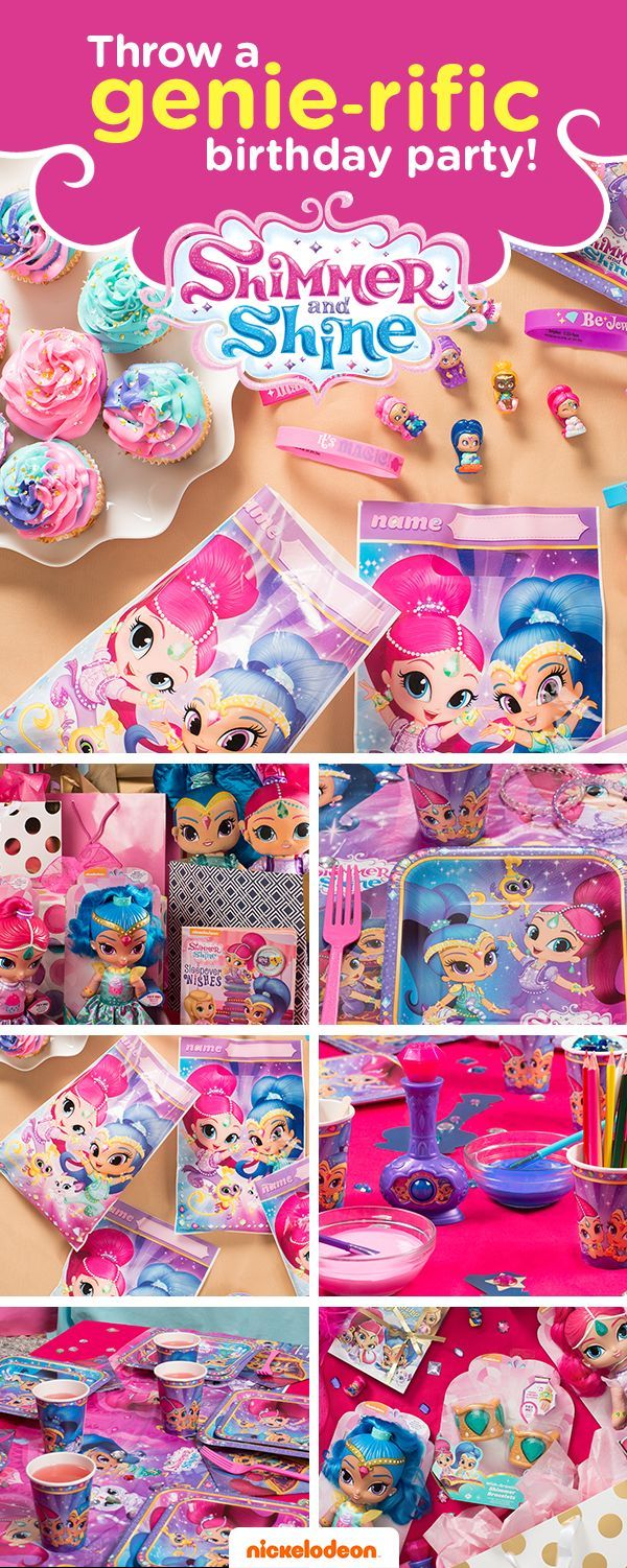 Grant your child's wish with a Shimmer and Shine themed party. Brightly colored party supplies will take guests on a magical adventure. From gifts to goodie bags, find everything you need to throw a memorable birthday bash featuring your favorite Nickelodeon show, from Shimmer and Shine party supplies and decorations to goody bag fillers to gift ideas and more.