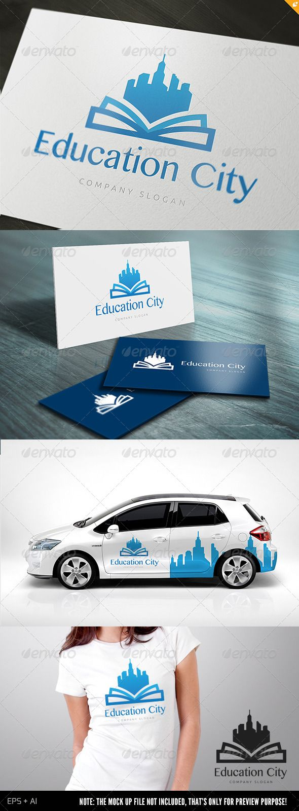 Education City Logo Design Template Vector #logotype Download it here:  http://graphicriver.net/item/education-city-/5131934?s_rank=356?ref=nexion