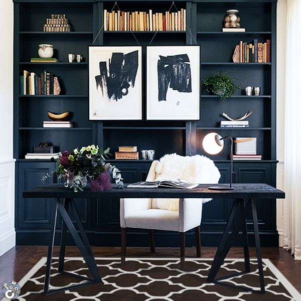 17 Best Ideas About Masculine Office On Pinterest