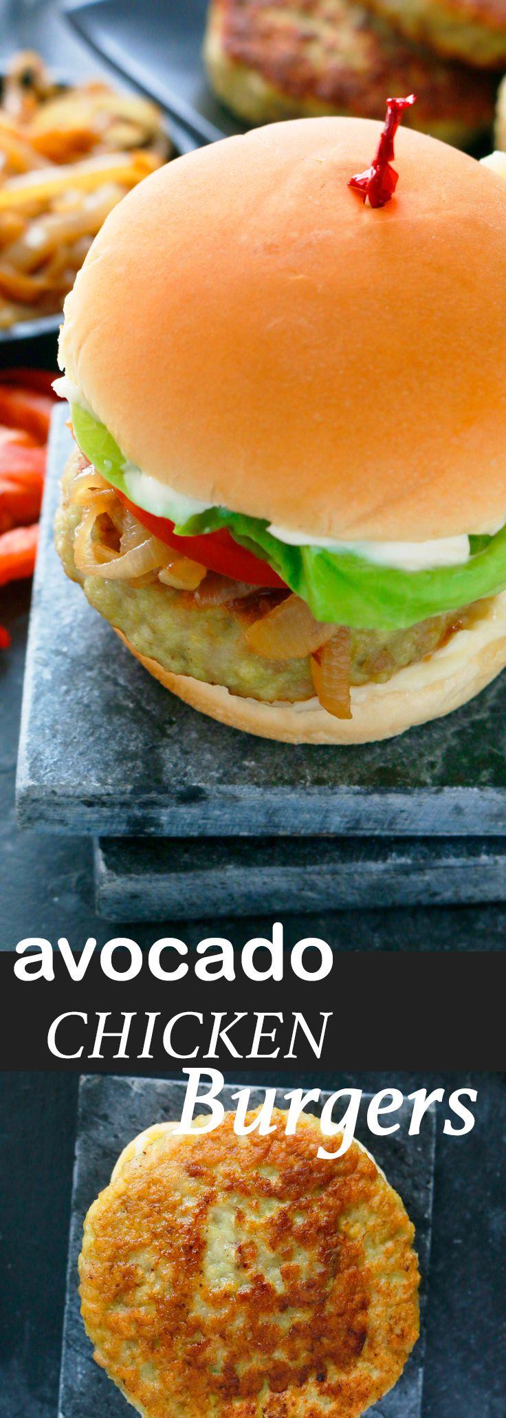 avocado chicken burger | healthy chicken burger | avocado burger | Easy chicken burger | chicken burger | healthy dinner recipes | chicken dinner |