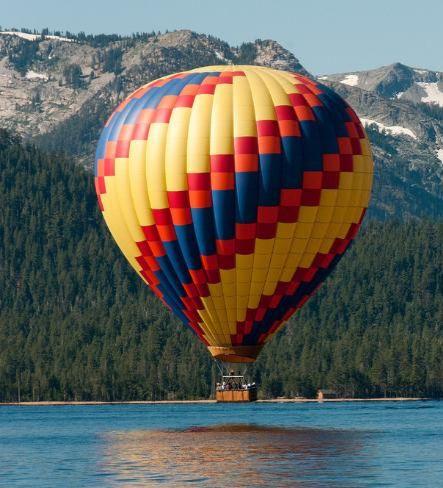 Travel Inspiration: Hot Air Ballooning Over Lake Tahoe.