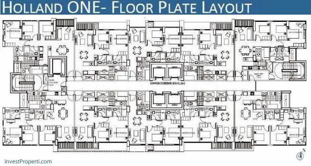 Floor Plan Holland Village apartemen tower pertama.