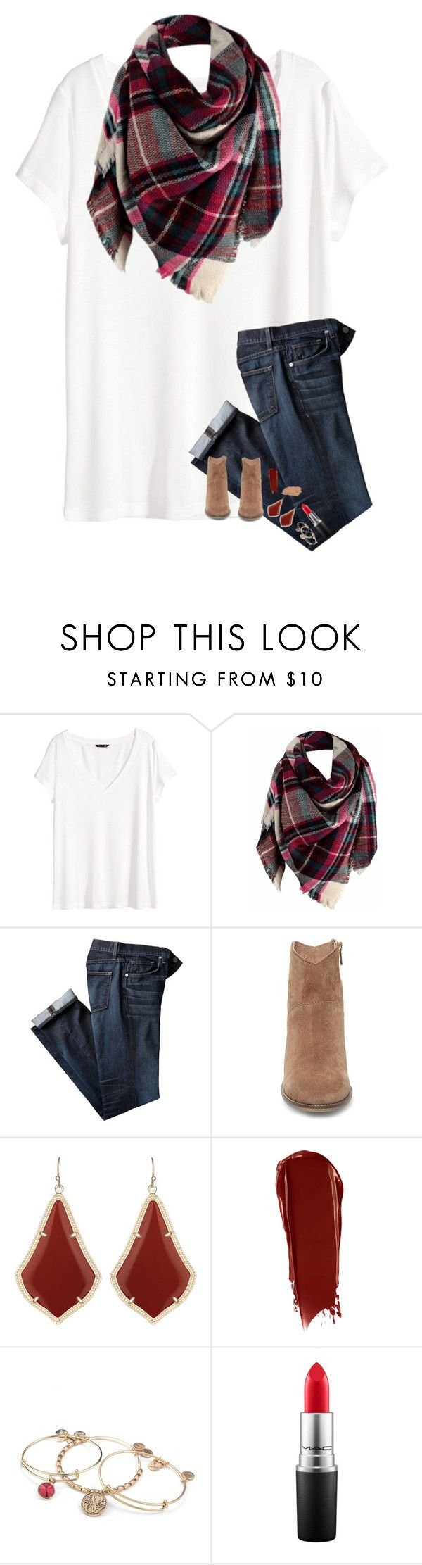"""Blanket Scarf!!!"" by kat-attack ❤ liked on Polyvore featuring H&M, Steve Madden, Kendra Scott, NARS Cosmetics, Alex and Ani, MAC Cosmetics and Jane Iredale"