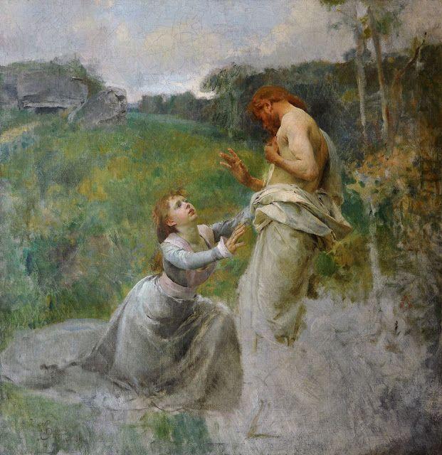 Jésus-Christ & Marie Madeleine - 1889 ~ Vojtěch Hynais ~ (1854-1925)