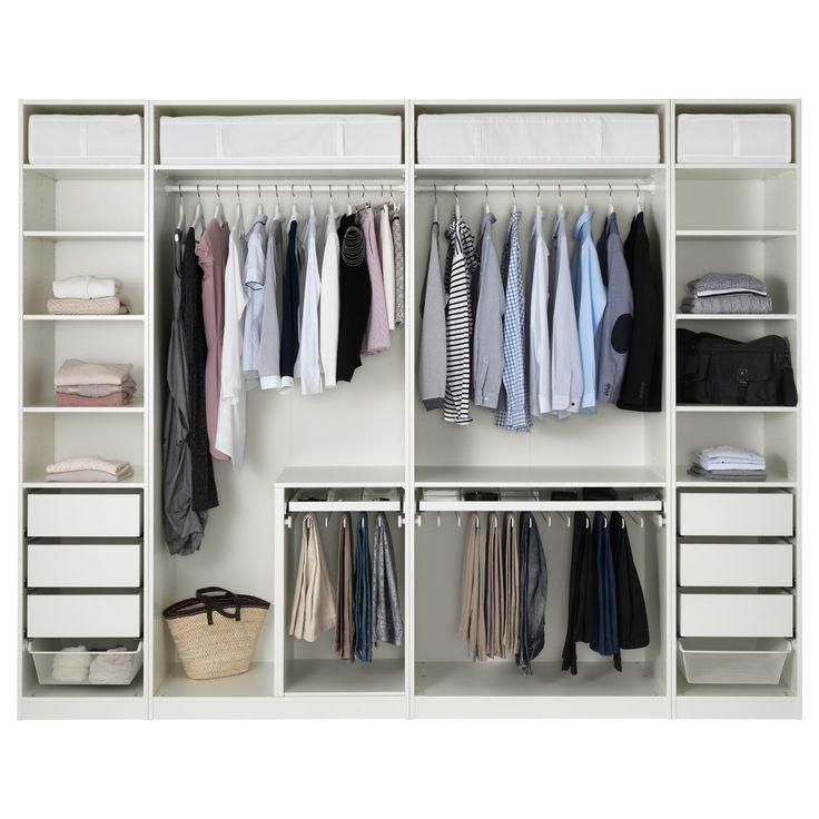 PAX Wardrobe white 300x58x236 cm (con immagini) Pax