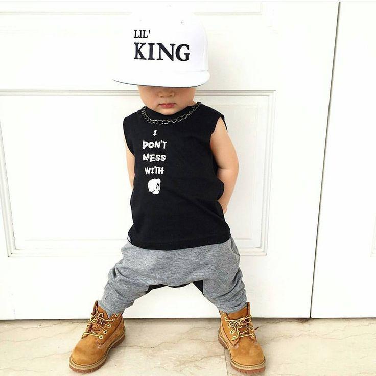 Lil gangsta : @biorkpink #minilicious #timberland #baby  www.minilicious.com