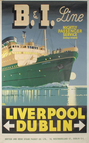 1950 British and Irish Steam Packet Company Liverpool to Dublin