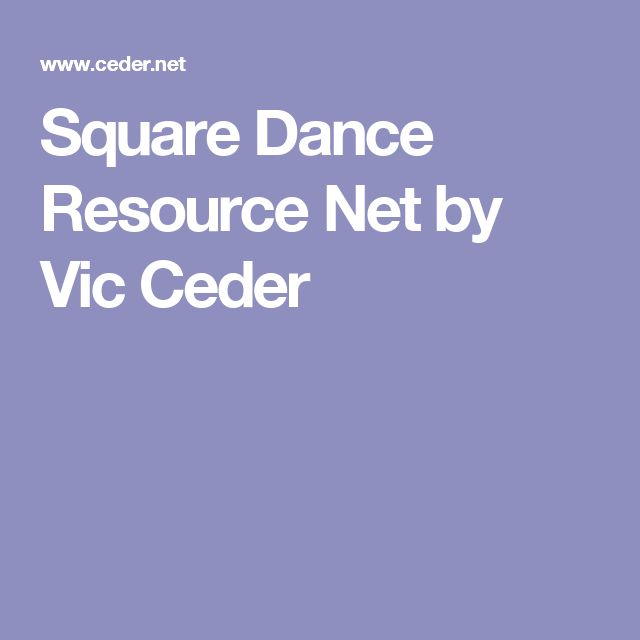 Square Dance Resource Net by Vic Ceder