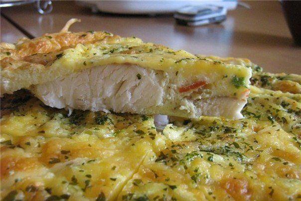 Рыба, запеченная в яйце с майонезом