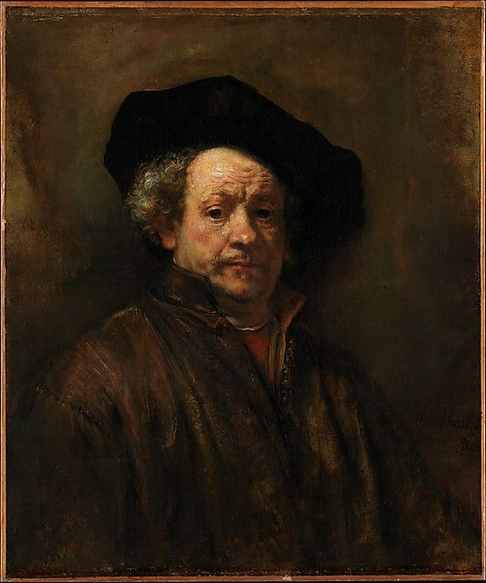 "Rembrandt van Rijn. ""Self-Portrait"" 1660. Oil on canvas, 31 5/8 x 26 1/2 in. Metropolitan Museum of Art."