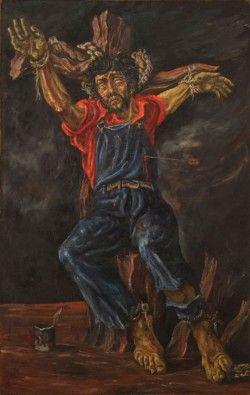 El obrero encadenado (San Sebastián) Antonio Berni (MNBA)