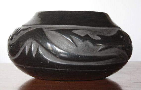 On Hold Faustina Gutierrez Santa Clara Pueblo Pottery Native American Burnished Black Pottery